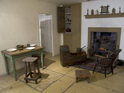 A recreated cottage interior, part of the housing at Quarry Bank Mill, Styal, built for mill workers