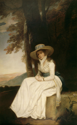 MISS STOPFORD portrait by an unknown artist from the Gilknockie Staircase