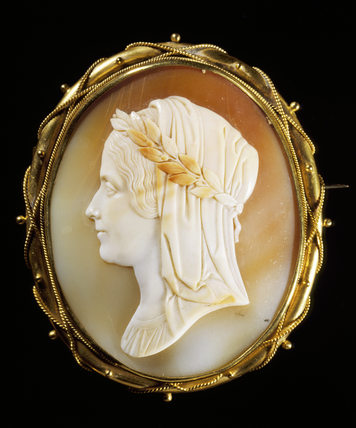 Cameo of MRS MARY SOMERVILLE in the Greek style