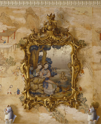An Eighteenth Century Chinese Mirror Painting With An