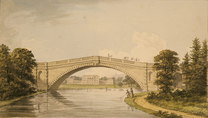 TERN BRIDGE with Attingham in the in the distance; from Repton's Red Book