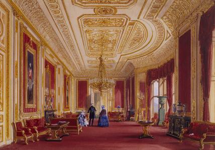 The Crimson Drawing Room At Windsor By John Nash