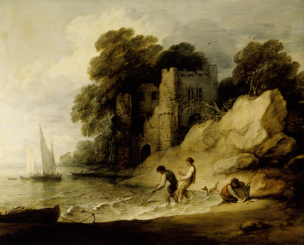 METTINGHAM CASTLE by Gainsborough (1727-88), exhibited at the Royal Academy in 1781