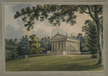 THE TEMPLE OF CONCORD AND VICTORY, VIEW OF PORTICO AND NORTH SIDE by Thomas Medland 1796/7