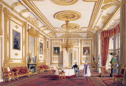 The White Drawing Room At Windsor Castle By Joseph Nash