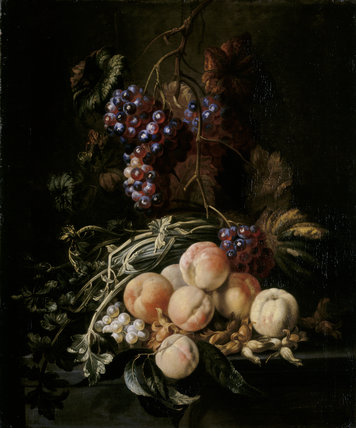 DUTCH SCHOOL 17TH OR 18TH CENTURY STILL LIFE WITH PEACHES