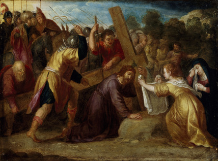 The Road To Calvary With Simon Of Cyrene And St Veronica