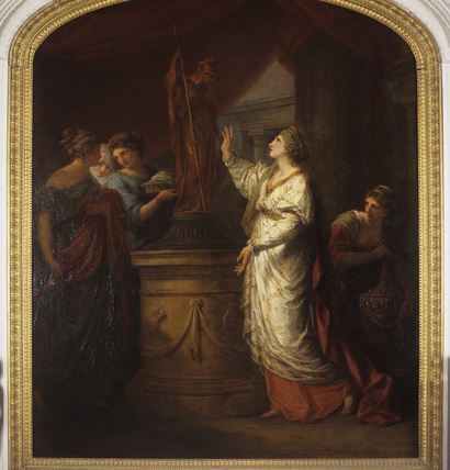 A SACRIFICE TO MINERVA (1774) by Angelica Kauffman (1741-1807)