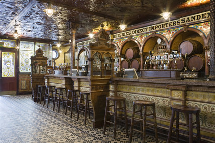 A view inside The Crown Bar, Great Victoria Street, Belfast