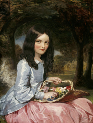 LAURA BEATRICE, DAUGHTER OF SIR ARTHUR H ELTON 7th Bt, oil on canvas by William Gush in the State Bedroom at Clevedon Court