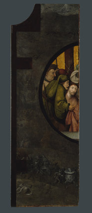 THE ADORATION OF THE MAGI, by Hieronymous Bosch,(fl- l480-1516),at Upton House, left wing of triptych