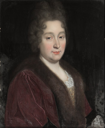 An Unknown Lady, in Brown, with a Furred Collar