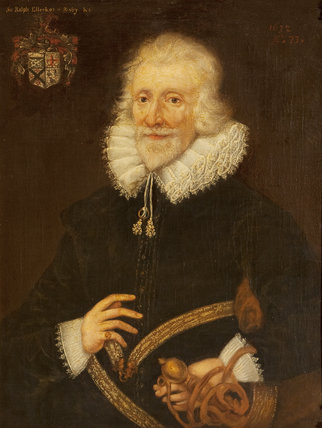 Sir Ralph Ellerker of Risby (b.1548/9) at the age of 73