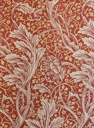 William Morris Wallpaper In Corridor At Cragside