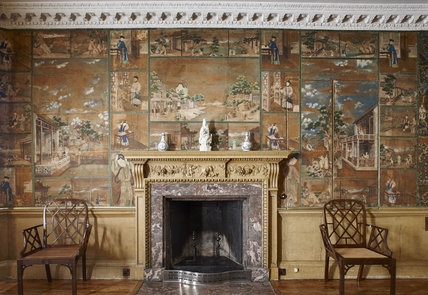 A Collage of Chinese Paintings Arranged as Wallpaper, Saltram