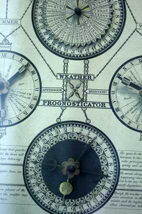 Close view of a Weather Prognosticator, 1831, designed by Henry Troke of Topsham and published by C