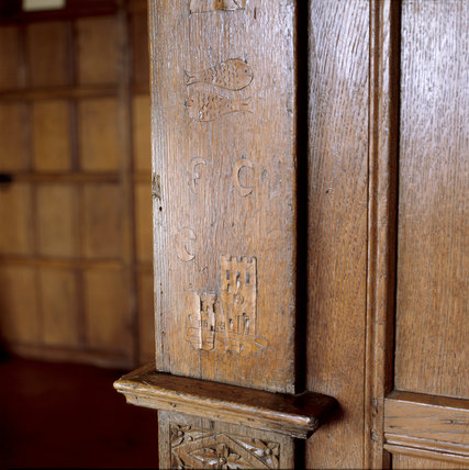 Barrington Court - Detail of the wood panelling