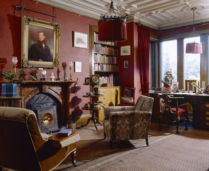 The Study at Cragside, Northumberland