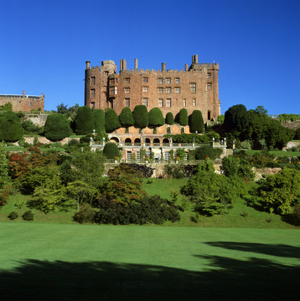 An exterior of Powis Castle