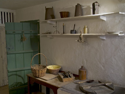 A recreated interior of one of the cottages at Quarry Bank Mill, Styal