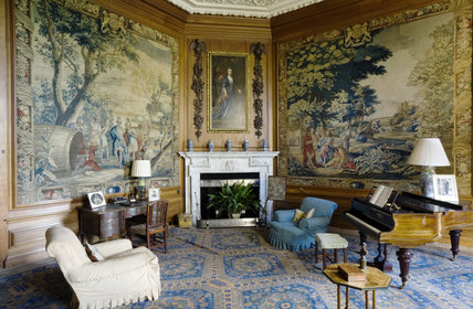 The Tapestry Room at Belton House, Lincolnshire, UK, looking towards the original Wyatville fireplace of 1811-12