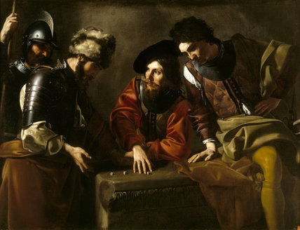 `SOLDIERS GAMBLING' (28) after Bartolommeo Manfredi, (c.1580-1620/1)