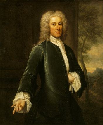`THOMAS HILL (FORMERLY HARWOOD) (1693-1782)' (100), by John Smibert (1688-1757)