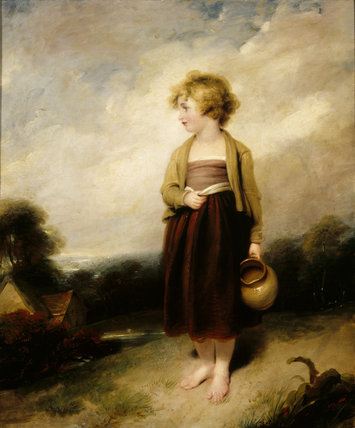 ''A CHILD GOING TO FETCH WATER' (132), by Richard Westall R.A. (1756-1836)