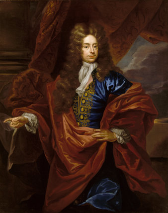 `RICHARD HILL OF HAWKSTONE (1654-1727),(109), artist unknown, English 1690s