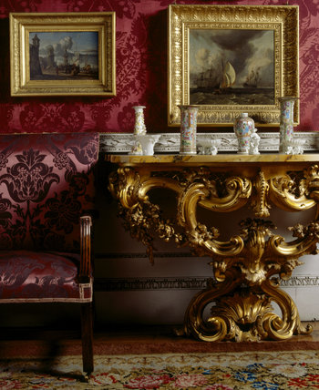Close up of the Cabinet at Felbrigg Hall In Norfolk