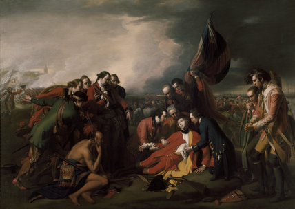 THE DEATH OF WOLFE by Benjamin West PRA 1738 1820 at Ickworth