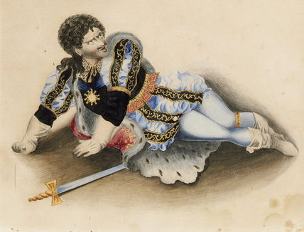 A tinsel picture of Kean in the role of Richard III