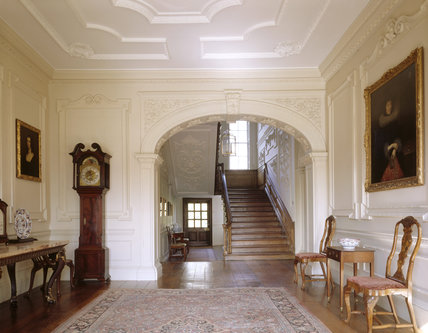 The Entrance Hall with the great archway, circa 1740, forming a proscenium to the Staircase