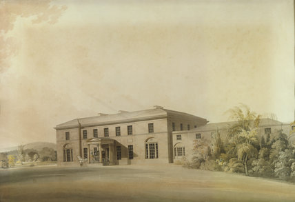 A watercolour design for the NORTH FRONT OF TATTON PARK by Lewis William Wyatt (1777-1853)