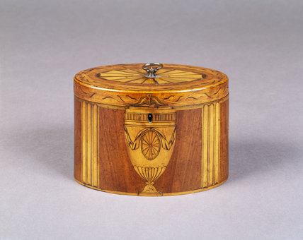 Oval tea-caddy (late 18th century) from the Drawing Room at Fenton House