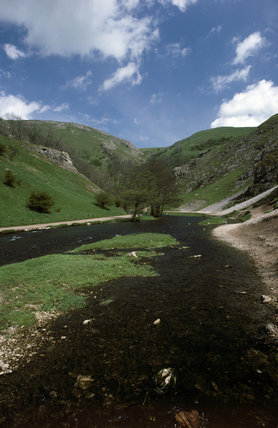 View showing the River Dove in the Dovedale Valley Region