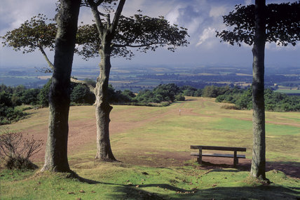 View almost due west by a major footpath on the Clent Hills