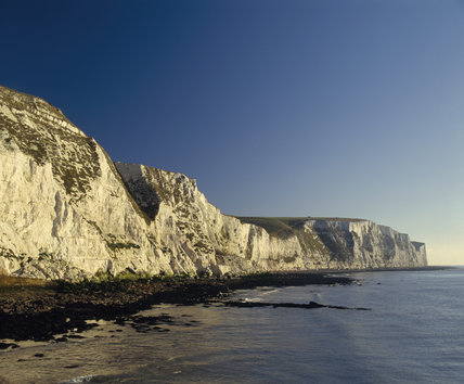 White Cliffs of Dover in the early morning