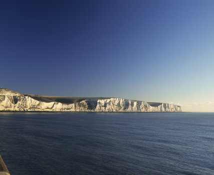 White Cliffs of Dover in the early morning light