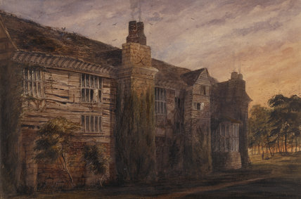 THE DERELICT WEST RANGE, c1848; watercolour by J Dodd