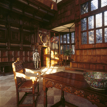 The interior of the Great Hall showing the wainscot, installed in 1564 by Sir William Norris II
