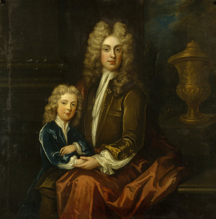EDWARD, 2ND VISCOUNT PRESTON (C.1679/81-1723) AND HIS SON CHARLES (1706-39) attributed to Charles D'Agar (1669-1723)