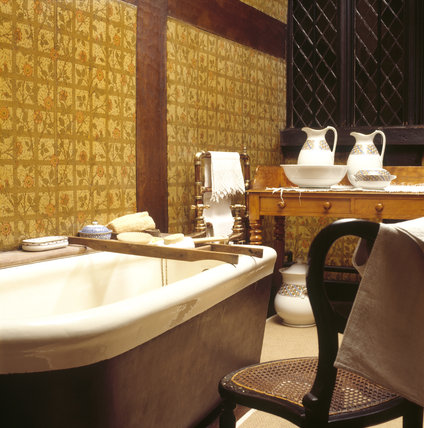 The interior of the bathroom at Speke Hall
