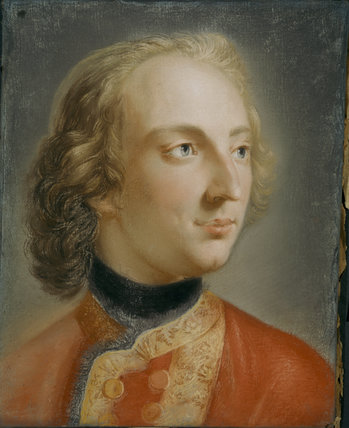 A pastel portrait of William Windham II by Barthelemy Du Pan