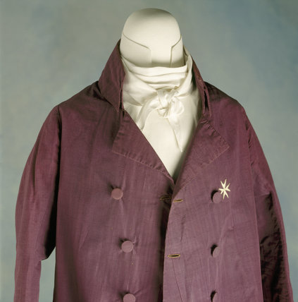 Front of a man's double-breasted coat, c.1800-10