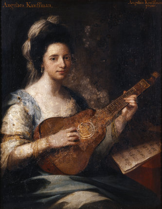 PORTRAIT OF THE ARTIST, by Angelica Kauffman RA (1741-1807); 35x27in