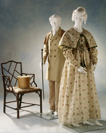 View of a day dress, c.1841-43