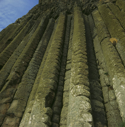 Detail of the Organ at Giant's Causeway, basalt rock formation