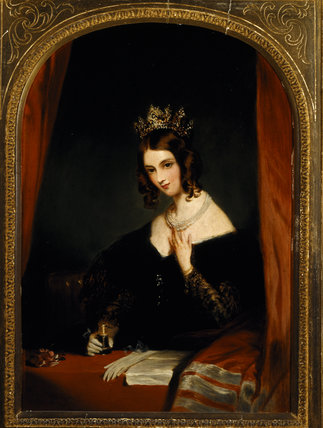 ANNE, COUNTESS OF CHESTERFIELD by F.P. Graves, 1874, after Landseer at Hughenden Manor in the Drawing Room.