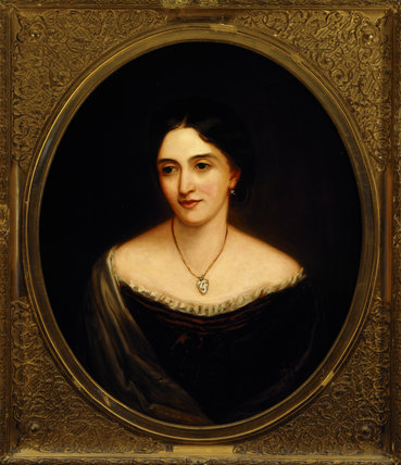 MARY, COUNTESS OF DERBY by J.R. Swinton (1816-88) at Hughenden Manor in the Drawing Room.